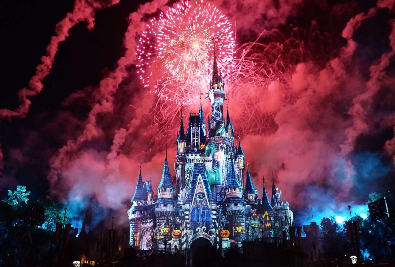 Fireworks at Disney's Cinderella Castle