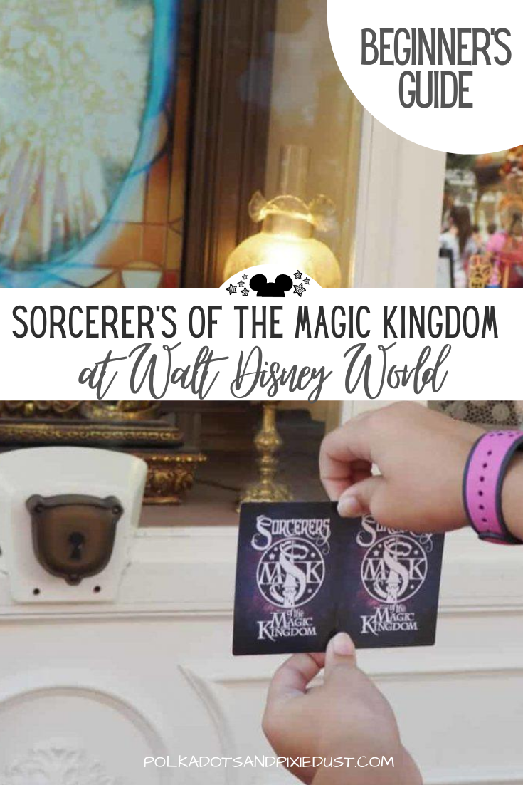How to Play Sorcerers of the Magic Kingdom at Magic Kingdom. Game Tips, Card Tips and Everything you need to know to snatch this Free Disney Souvenir! #disneygames #magickingdom #polkadotpixies