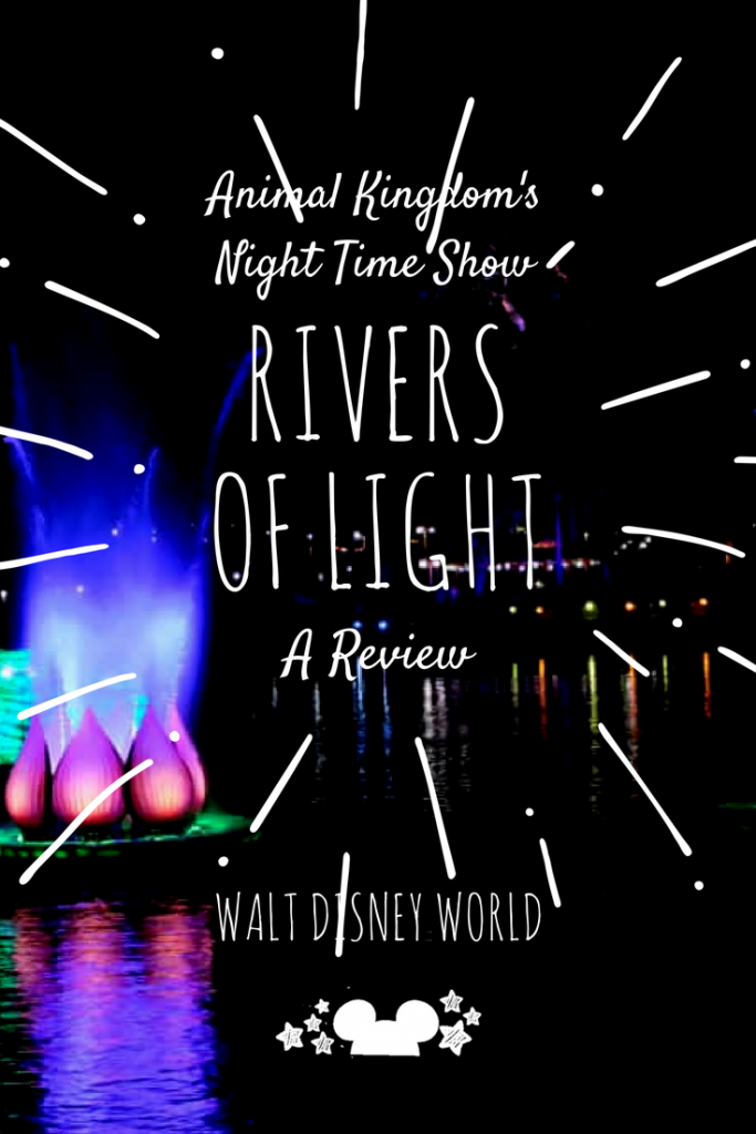 rivers of light nighttime show at Animal Kingdom, Walt disney World. Animal Kingdom Shows. #riversoflight #animalkingdom #waltdisneyworld #polkadotpixies
