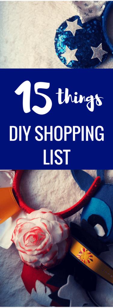 polkadotsandpixiedust DIY Essentials Supply List