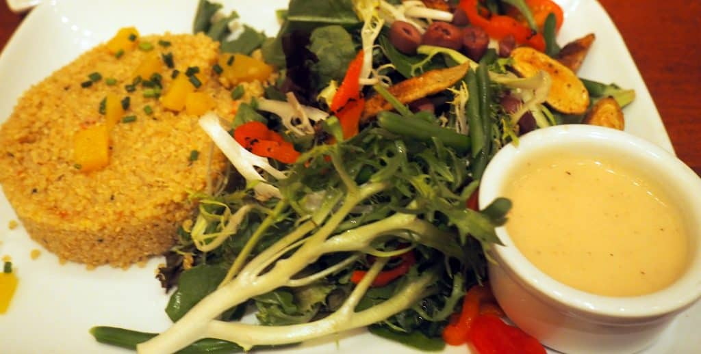 healthy food at disney polkadotsandpixiedust.com Be Our Guest Restaurant Revew Magic Kingdom