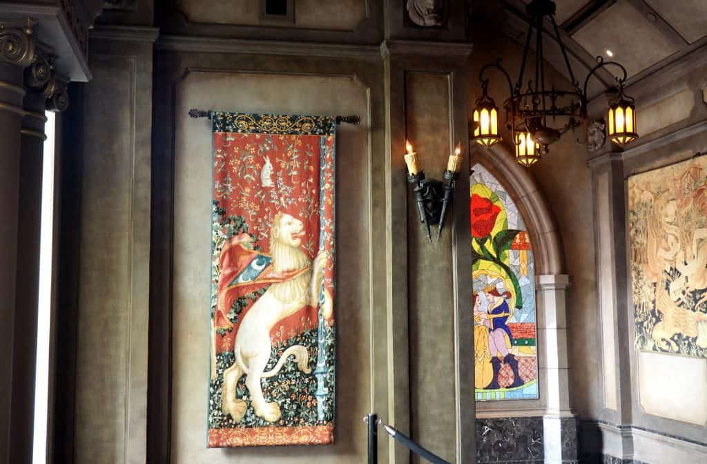 be our guest tapesty, be our guest window restaurant