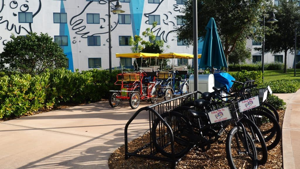 Bike Rentals at Art of Animation Walt Disney World Resort behind Building 4
