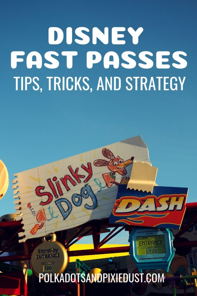 How to book the hard to get Disney Fast Passes. What they are, what tips, tricks and strategy will help you make sure you have the best ride fast passed. #disneyplanning #disneyrides #disneytips #disneystrategy #polkadotpixies