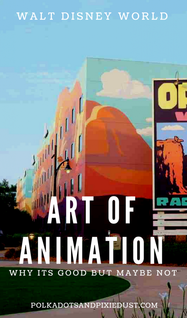 Art of Animation Resort at Walt disney World. Everything we thought about this value plus resort at Disney world. #disneyfamily #disneyworldtips #disneyworldresorts #artofanimation #polkadotpixies