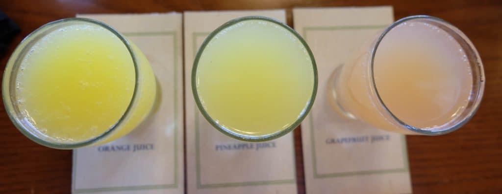 flight of mimosas at kona cafe polynesian disney