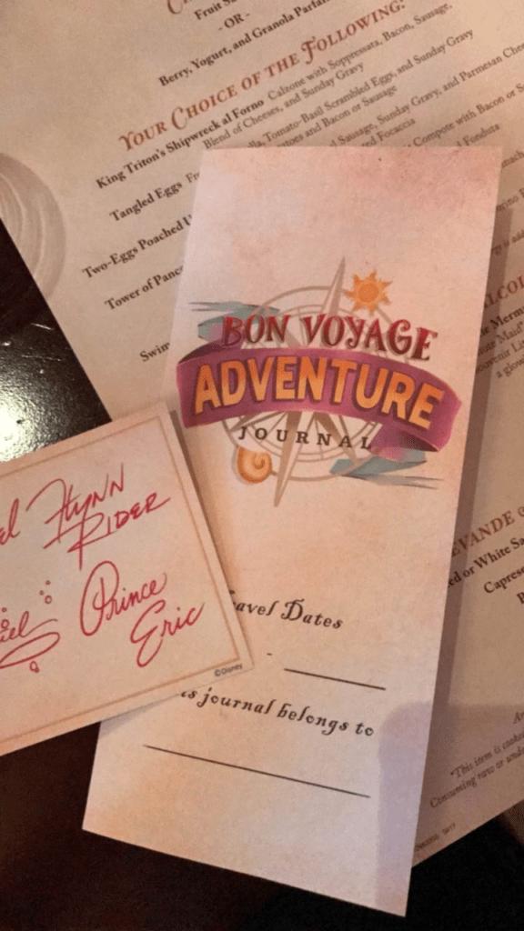bon voyage character breakfast