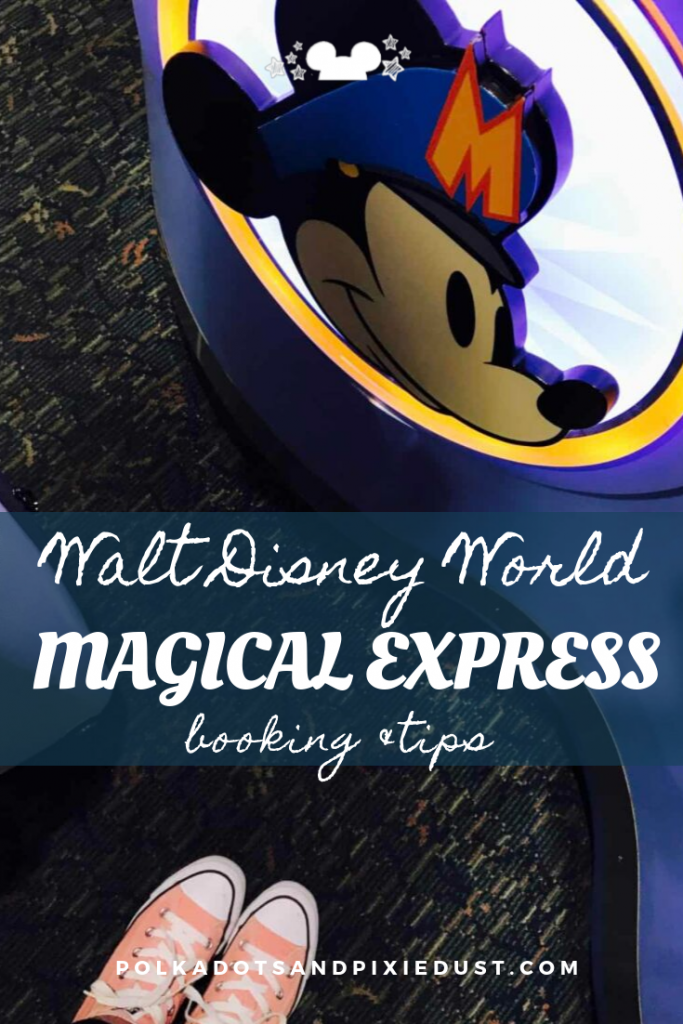 Everything you need to know about the Magical Express shuttle service that Walt Disney World offers to resort guests. #polkadotpixies #disneyvacation #magicalexpress #polkadotpixies