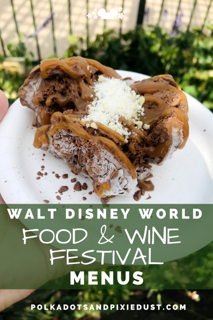 Epcot Food and Wine Festival Menus at Walt Disney World #tasteepcot #disneyfestival #foodandwinefestival #waltdisneyworld #polkadotpixies