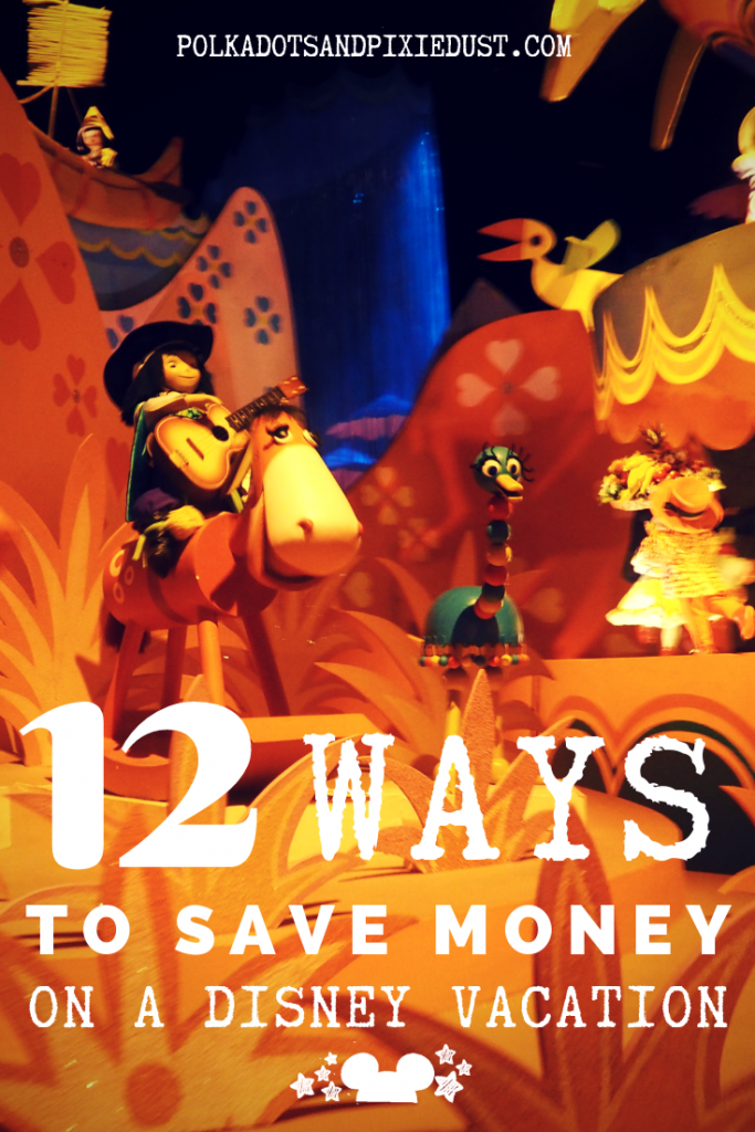 12 ways to Save Money a Disney Vacation. To Walt Disney World or Disneyland, use these 12 tips to make sure you stay on a your Disney Budget both for planning and while in the parks! #polkadotpixies #disneyonabudget