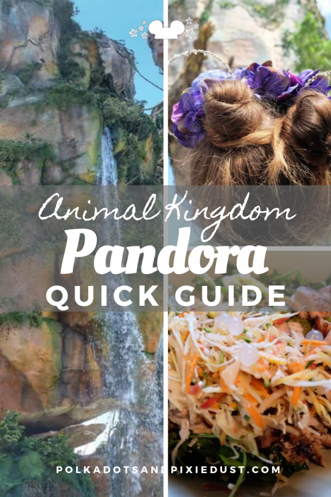 Pandora at Animal Kingdom is amazing. From the rides to the food to the atmosphere. Here's a quick guide to everything you can see, do and eat there! #polkadotpixies #pandora #animalkingdom #disneyguide