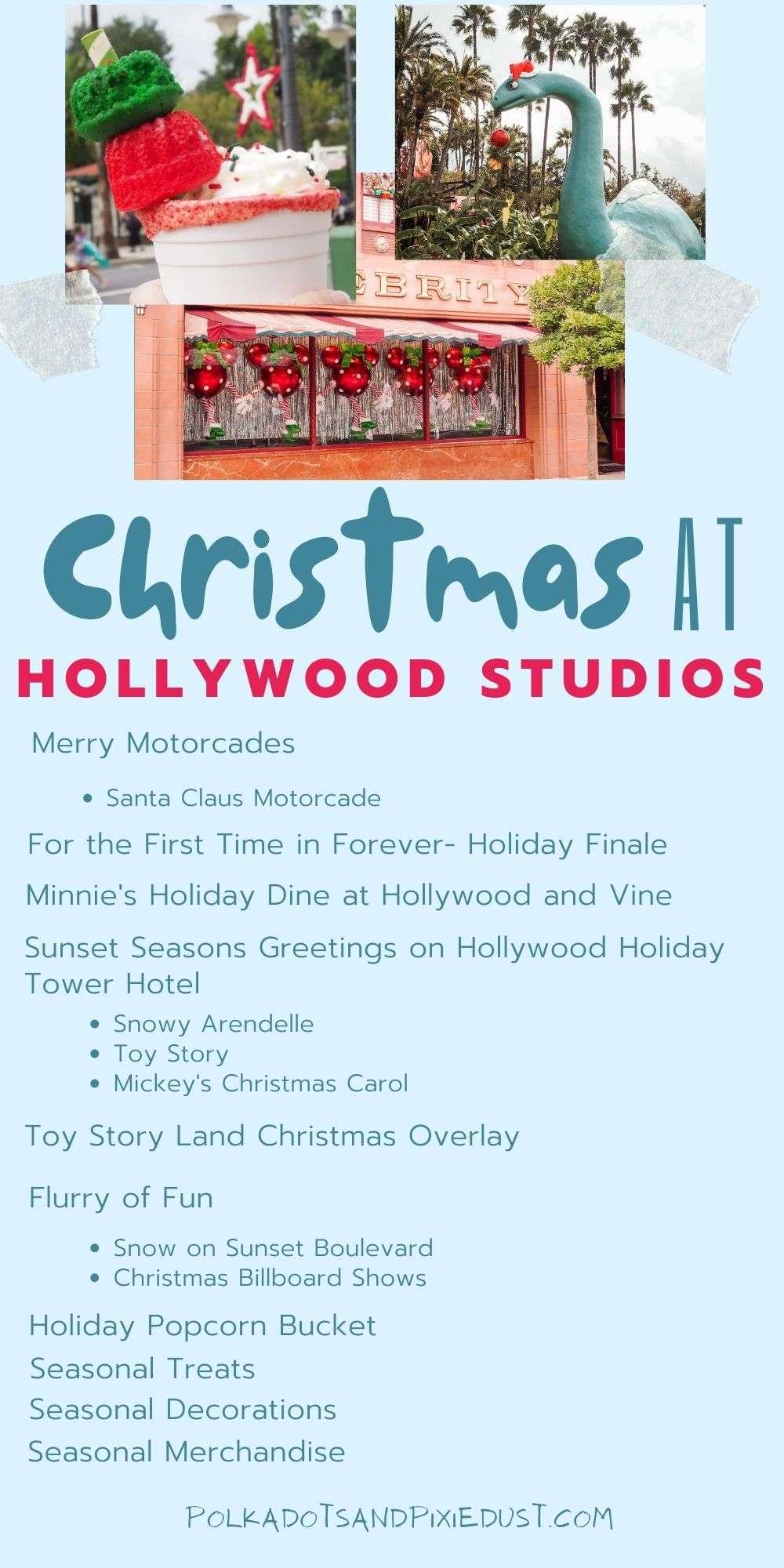 Christmas at Hollywood Studios Walt Disney World