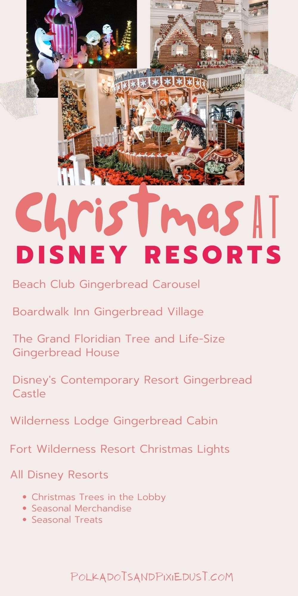 Christmas at Walt Disney World Resorts