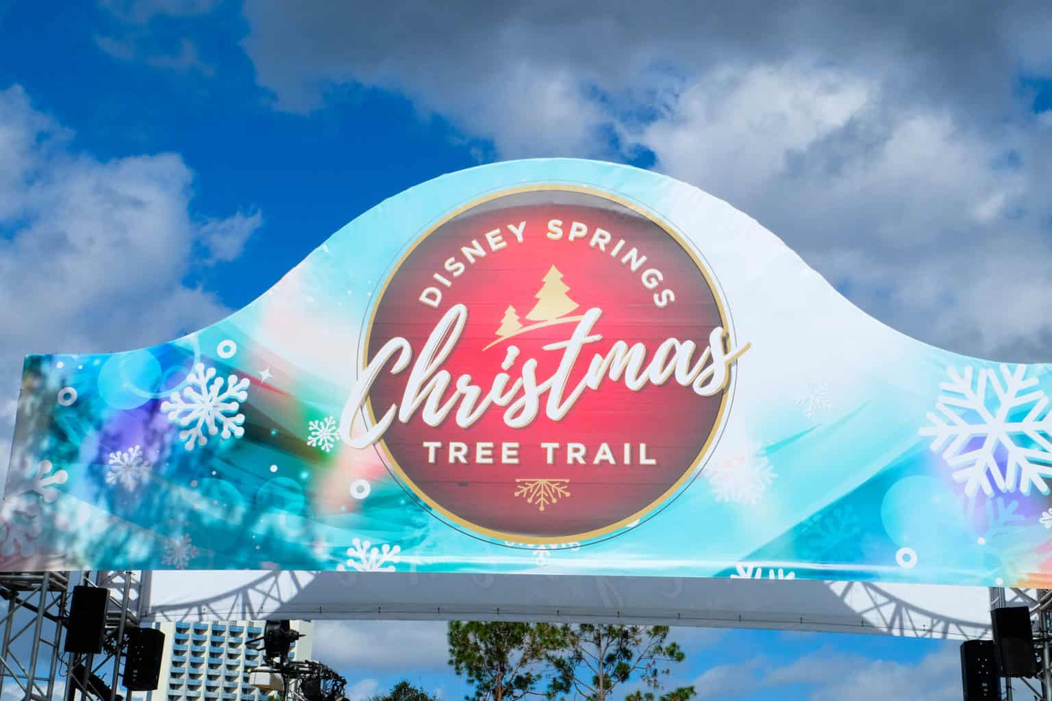 christmas at disney, disney springs christmas tree trail
