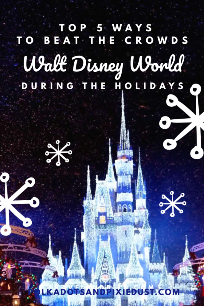 5 ways to beat the crowds at Walt Disney World this holiday season! # Walt