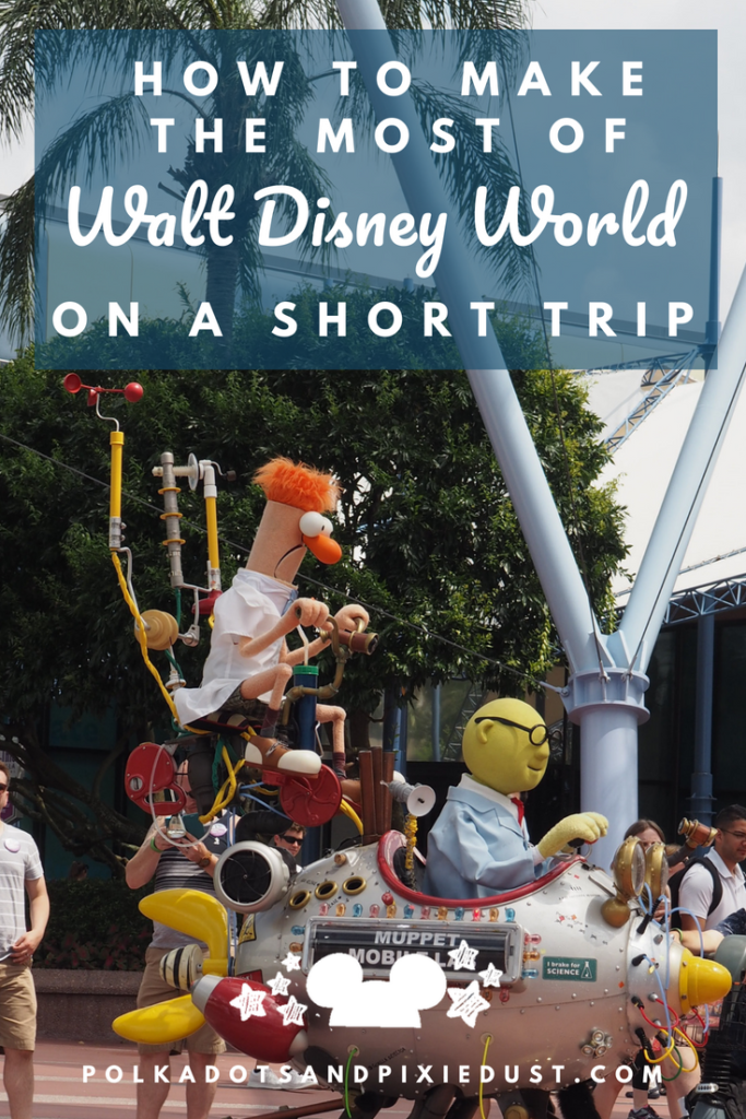 How to make the most of Walt Disney World if you're only going for 3 or 4 days. Here are our best tips for making your vacation feel like a vacation, have a great time and what to think about ahead of time. #disneyworldvacations #lastminutetrip #longweekend #disneyvacation