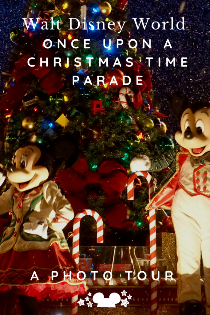Christmas Parade at Walt Disney World photo tour, and song. #disneychristmasparade #onceuponachristmastime