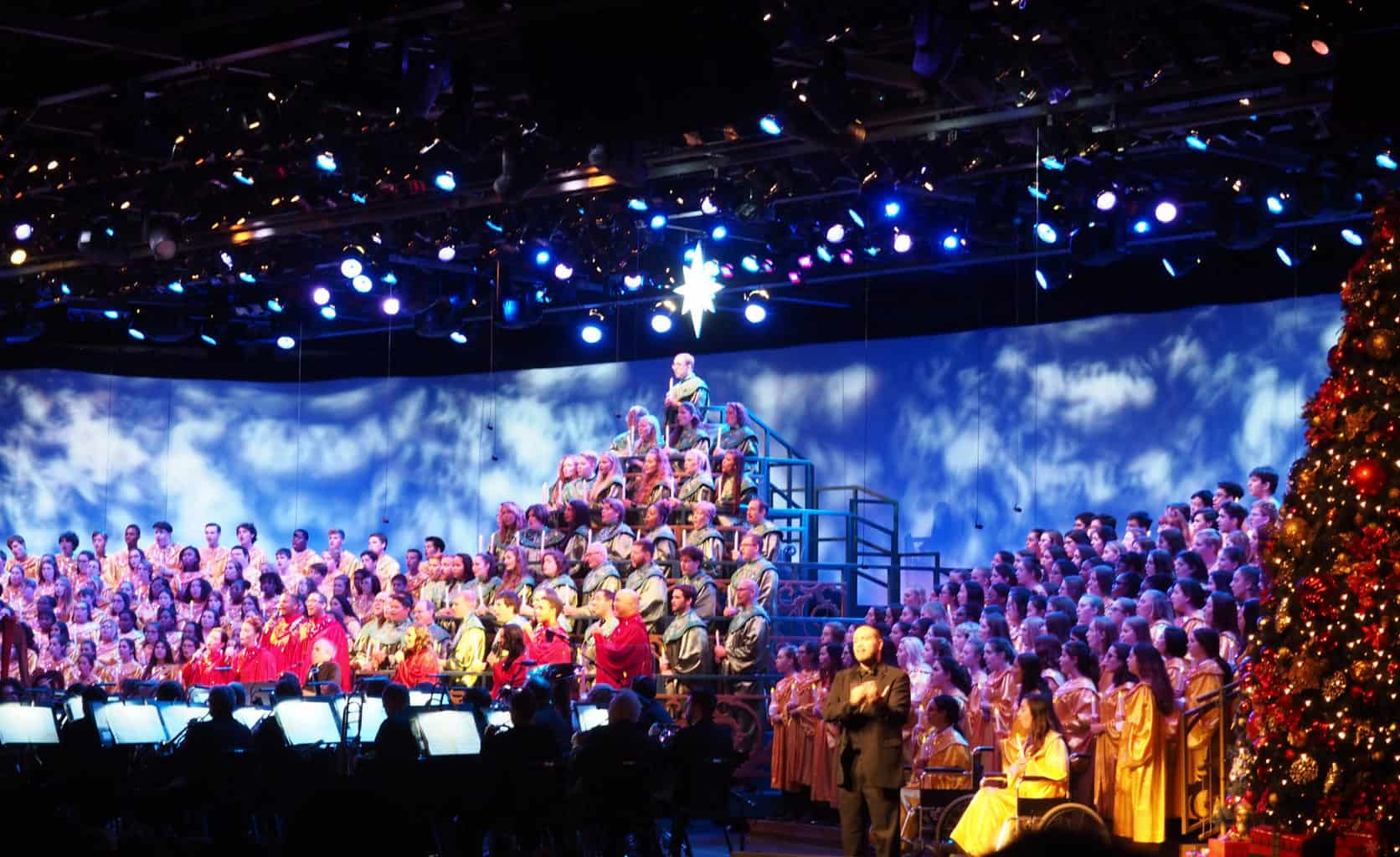 candlelight processional, christmas at epcot
