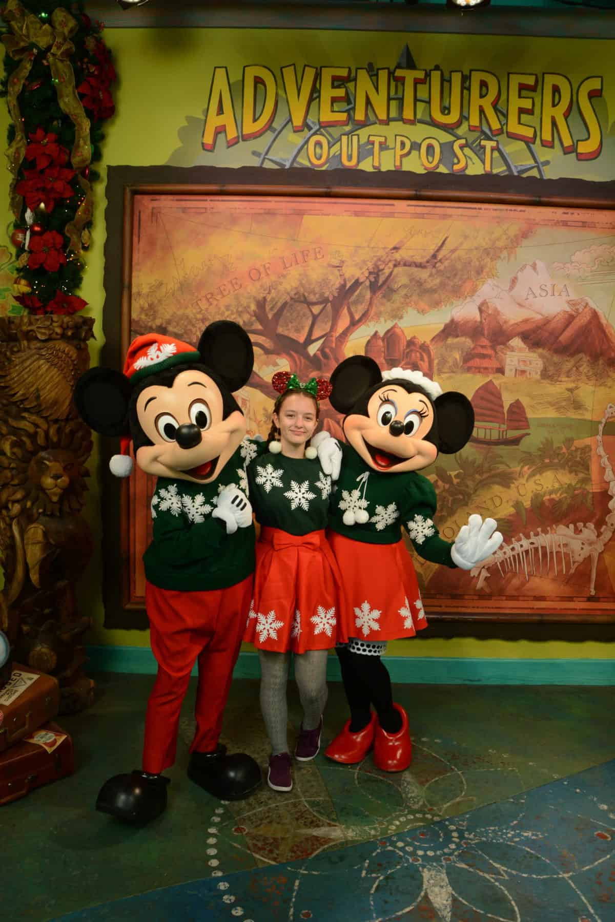 Mickey and Minnie's Christmas Sweater DIY Holiday Template and Instructions