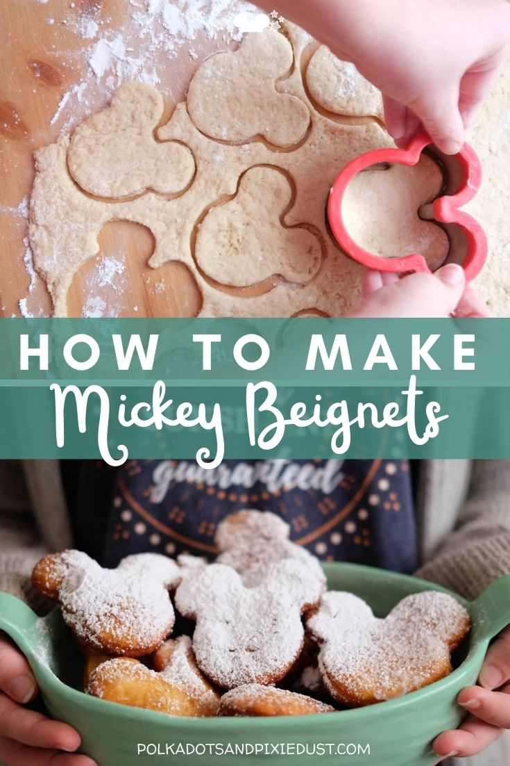 Making Mickey Beignets can be easy once you get the hang of it! Perfect for Mardi Gras, or anytime these little doughy treats are a perfect snack to make you feel like you're in the parks! #polkadotpixies