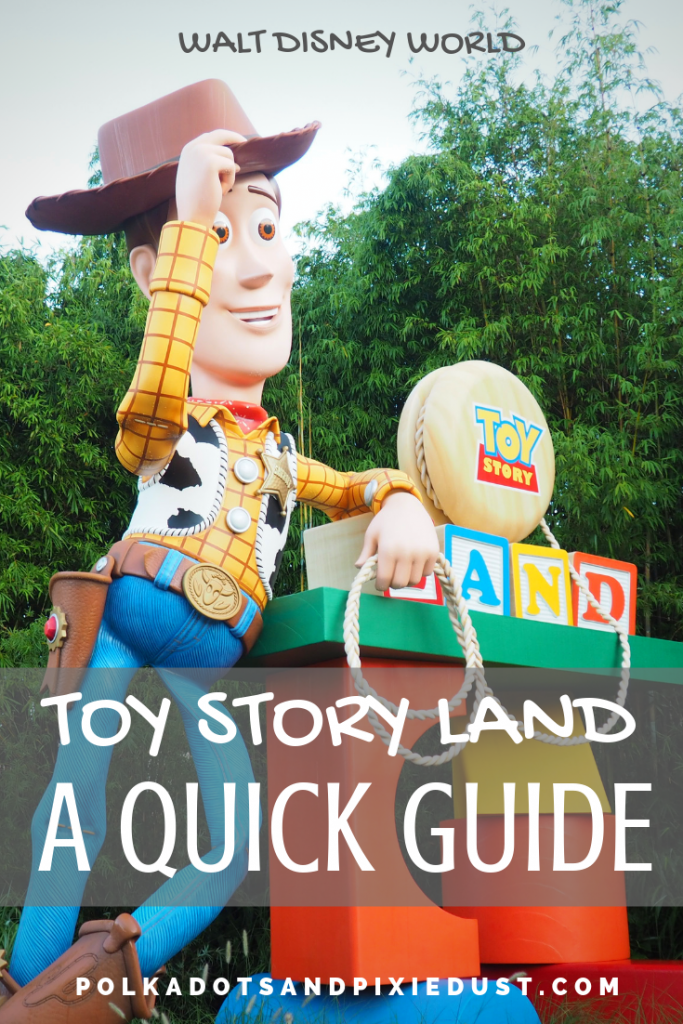 Thinking of adding Toy Story Land to your day at Hollywood Studios Walt Disney World? Here's a quick list of everything you'll see there. #toystoryland #disneyworld #disneyguide #disneytips