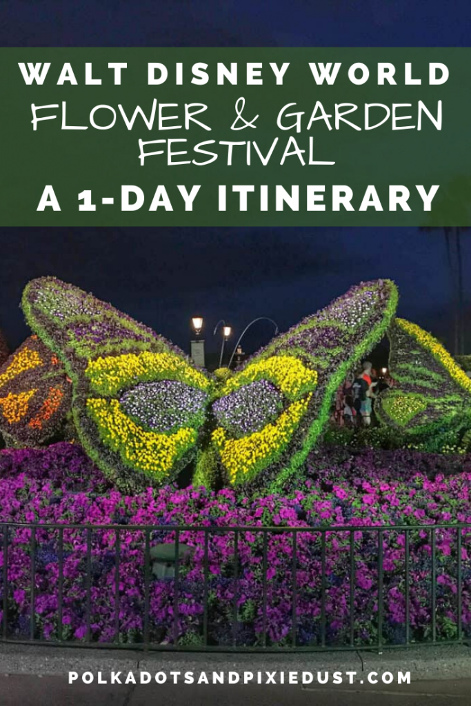 The Walt Disney World Flower and Garden Festival at Epcot runs March 4-June 1, 2020 and it's sure to be bustling with crowds! Think you can tackle it in one day? #disneyvacation #freshepcot