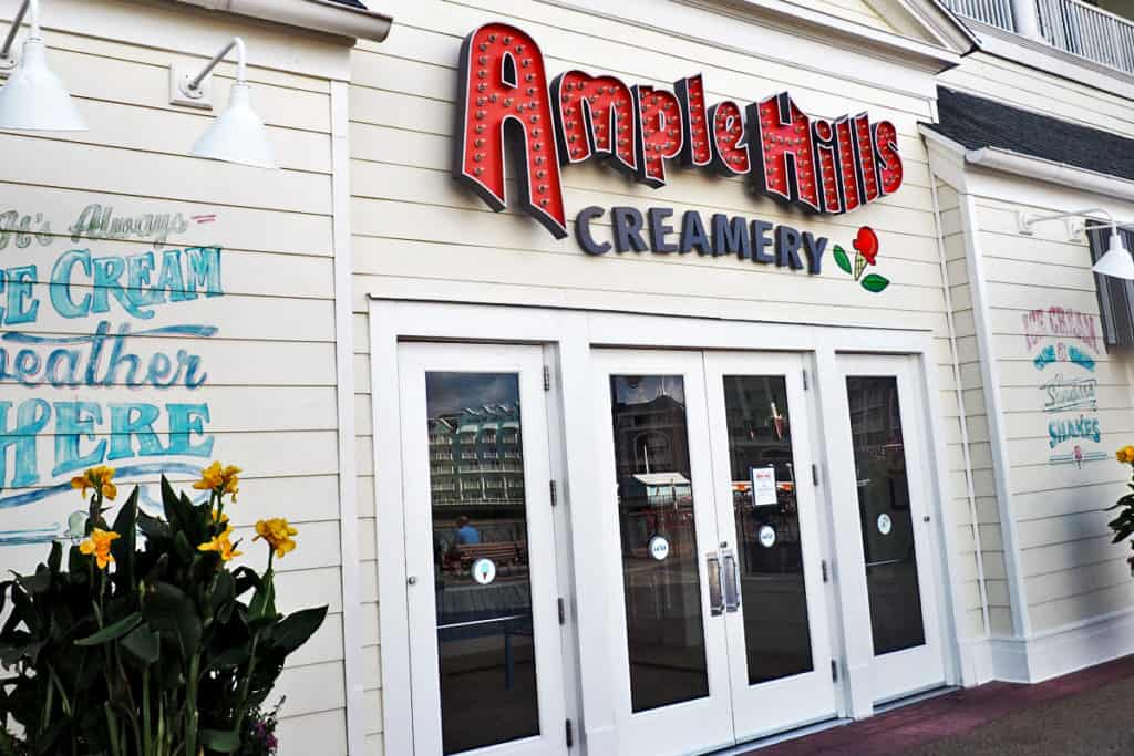 ample hill creamery at disney boardwalk