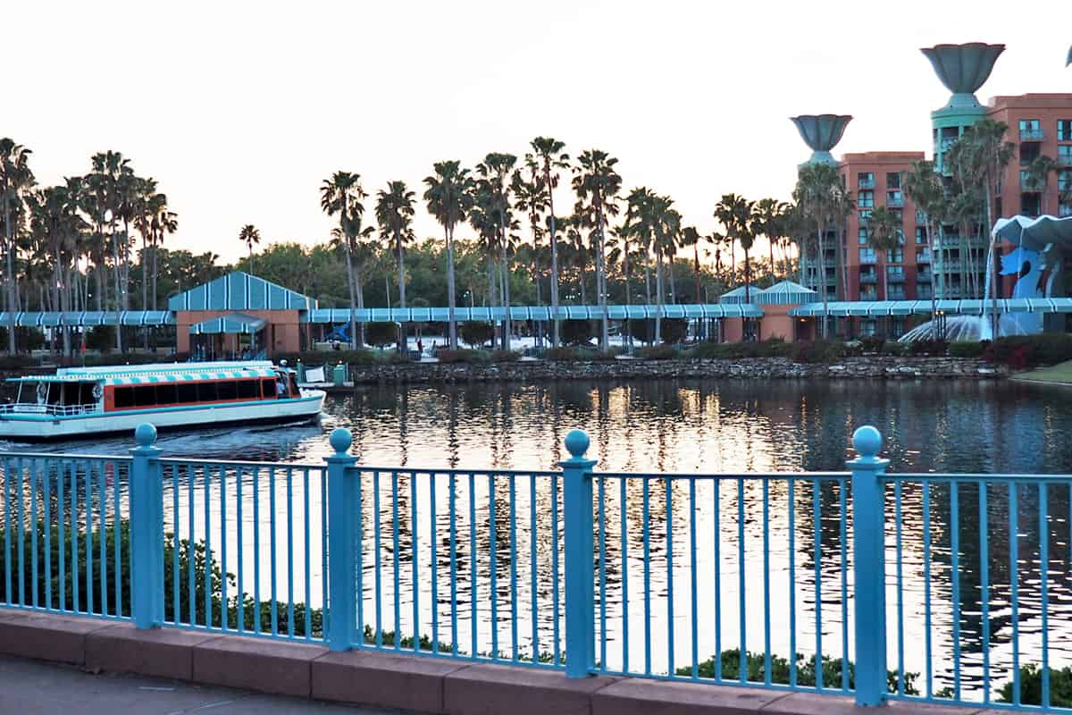 disney board walk from the swan and dolphin hotel