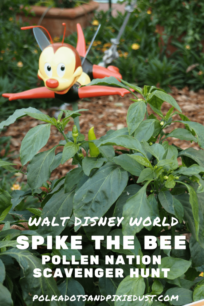 spike the bee pollination scavenger hunt epcot