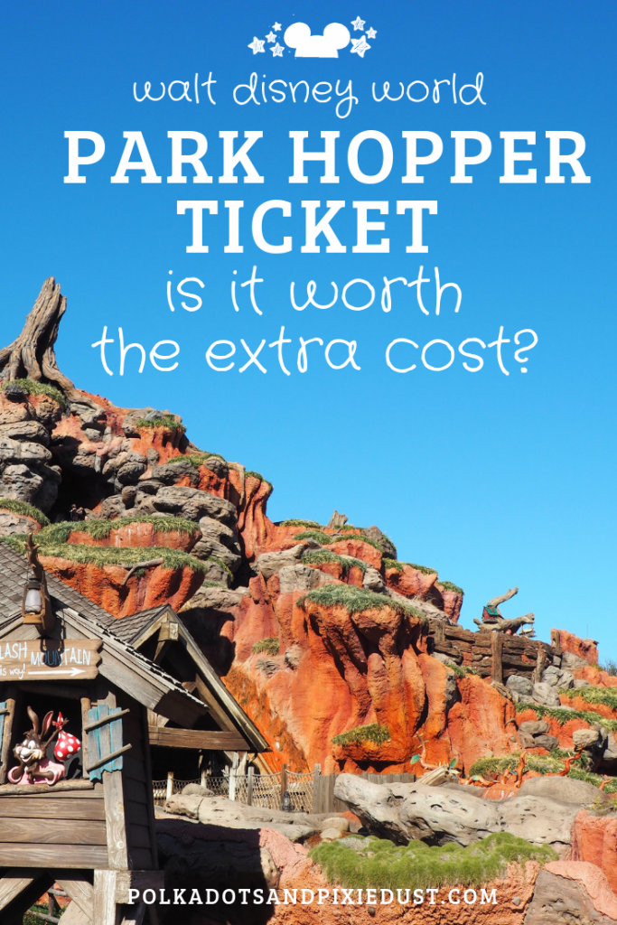 Is the Walt disney World Park Hopper Ticket really worth the Extra Cost? AT 55 dollars a ticket per day, here are 4 reasons to say yes... and 4 reasons to say no! #polkadotpixies #disneyworld #parkhopper #disneytips