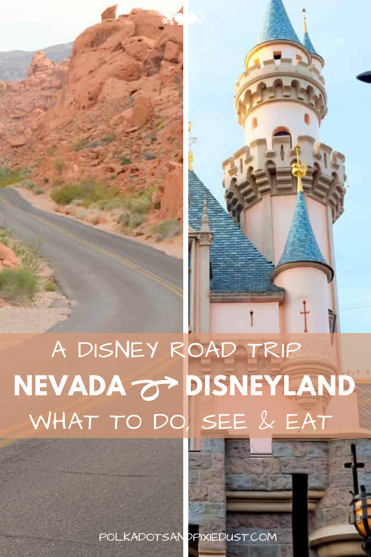 Thinking about driving to Disneyland? It may just be your safest bet and why not get some outdoor hiking in while you're at it! Check out everything we did from Nevada to Disneyland for a great Disney and Dessert Road Trip. #disneyroadtrip #disneyland #familyvacation #roadtrips #polkadotpixies