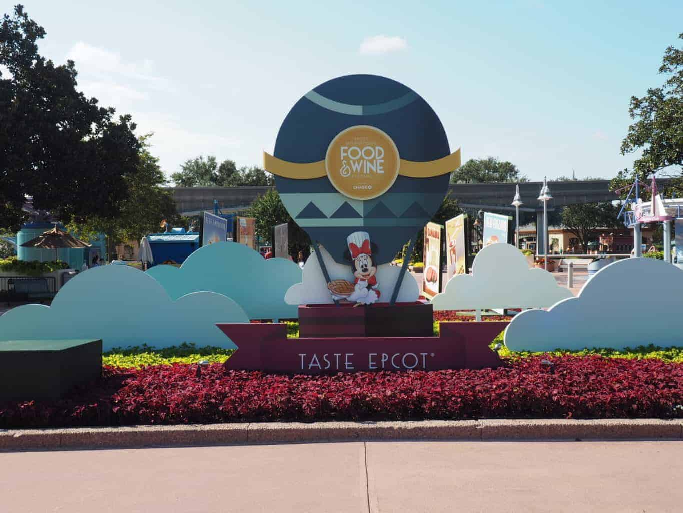 food and wine epcot in the fall