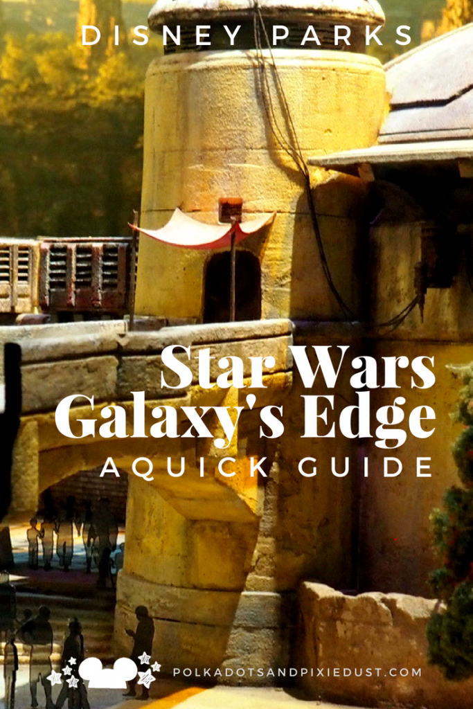 Star Wars Galaxy's Edge at Disney World. All the restaurants, rides, shows, greets and more. #starwarsgalaxysedge #disneystarwars #waltdisneyworld #starwarsland #disney2019 #polkadotpixies