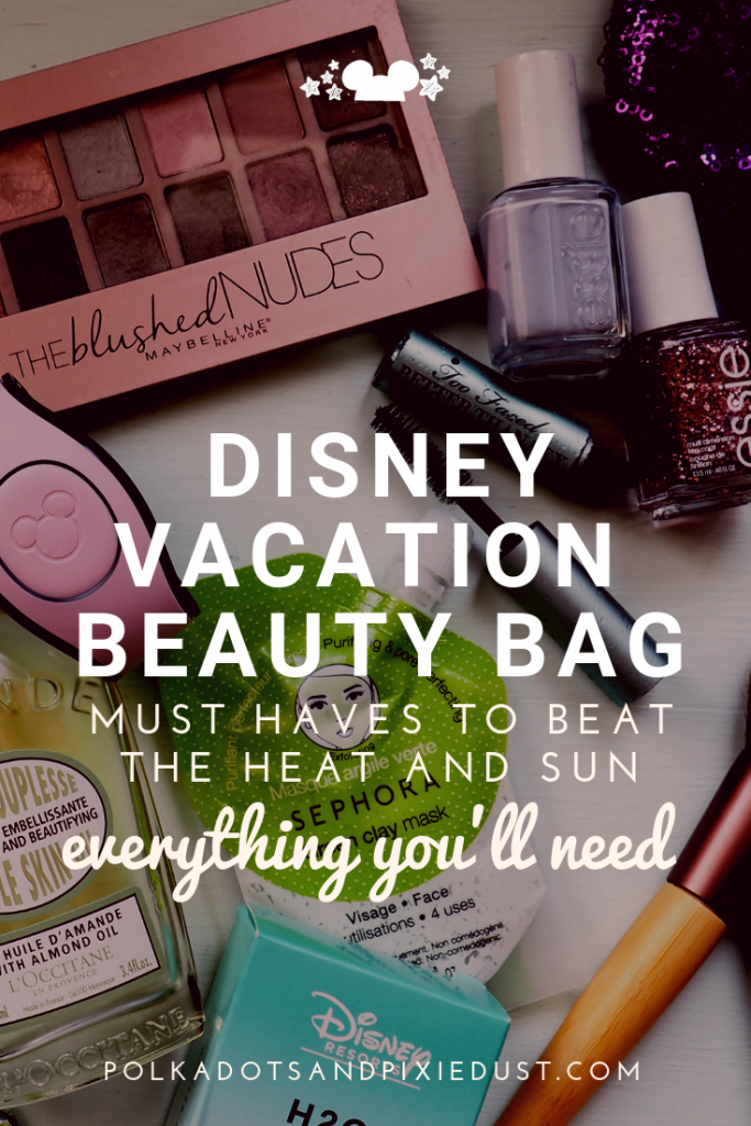 The very best Makeup, Skin, and Hair Products to get you through a Florida Vacation looking gorgeous, even in the heat and humidity. #polkadotpixies #disneybeauty #disneytips #bestmakeup