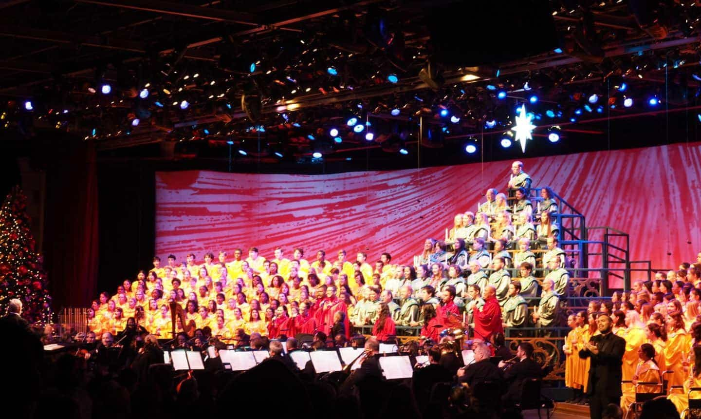 the processional at disney world epcot for christmas