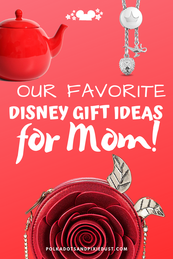 Our Favorite Gift Ideas for the Disney Loving Mom! Whether she's fancy, practical, like a little Disney or a lot. Here's our favorites for Disney moms that love style, baking, decor, travel, summer and more! #polkadotpixies #disneygifts #mothersdaygifts #giftideas #giftsforher