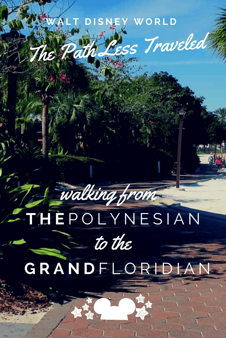 disney walking path from the polynesian to the grand floridian