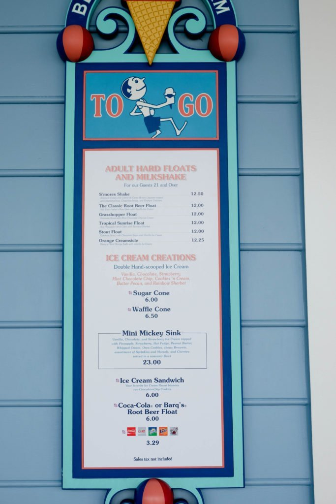 Beaches & Cream Disney Boardwalk What to Eat Walt Disney World Beach Club #disneyfood #disneyboardwalk #beachesandcream