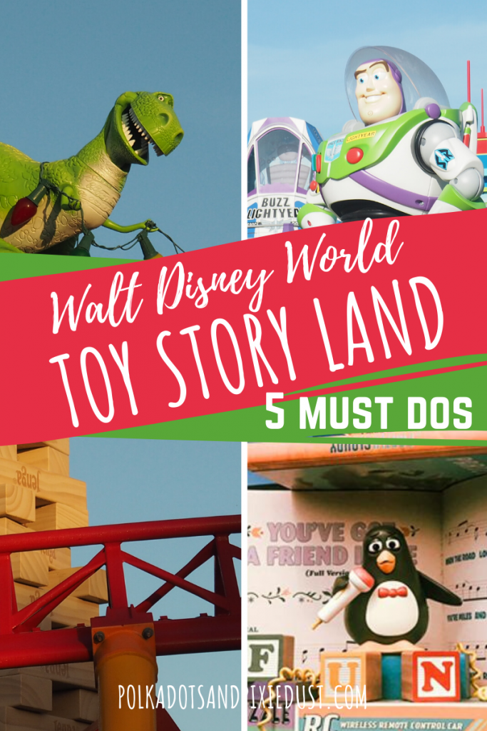 Only spending a few hours in Toy Story Land? We get it. Here's our top 5 Things for your Toy Story Vacation at Hollywood Studios and how to make the most of a quick visit. #toystoryland #disneyworld #hollywoodstudios #disneyvacation