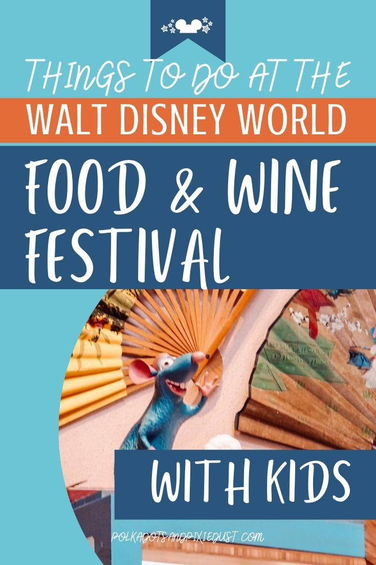 Eveyrthing you can find at the Food and Wine Festival for Kids at Walt Disney World Epcot. #polkadotpixies