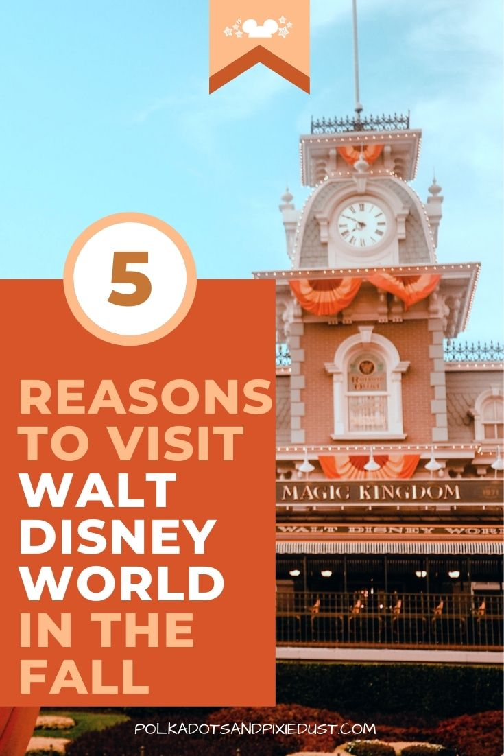 The TOP 5 Reasons why you should visit Walt Disney World in the fall months! #polkadotpixies