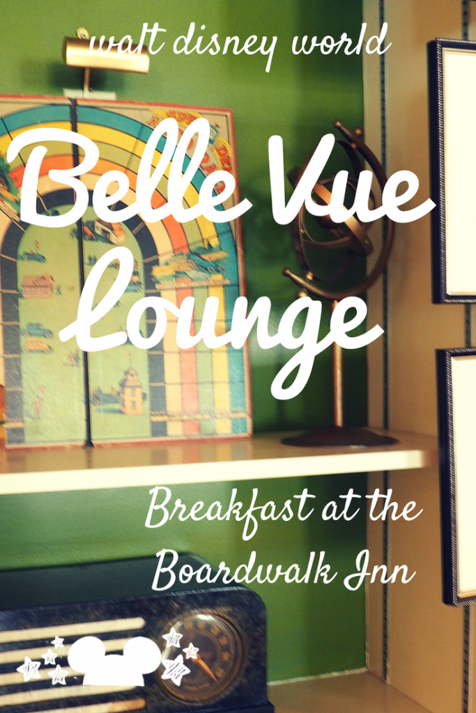 Breakfast at the Belle Vue Lounge at Walt Disney World Boardwalk Inn Resort #bellevuelounge #disneyboardwalk #breakfastattheboardwalkdisney