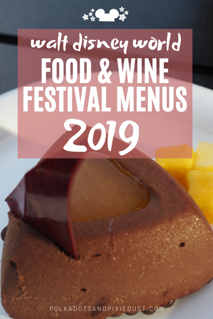 Walt Disney World Epcot's International Food and wine Festival Menus for 2019 HAVE ARRIVED!!! See the Menus for 30+ Outdoor Kitchens. And see what isn't returning! Happy Food and wine 2019! #tastepcot #disney2019 #polkadotpixies #waltdisneyworld #disneytips