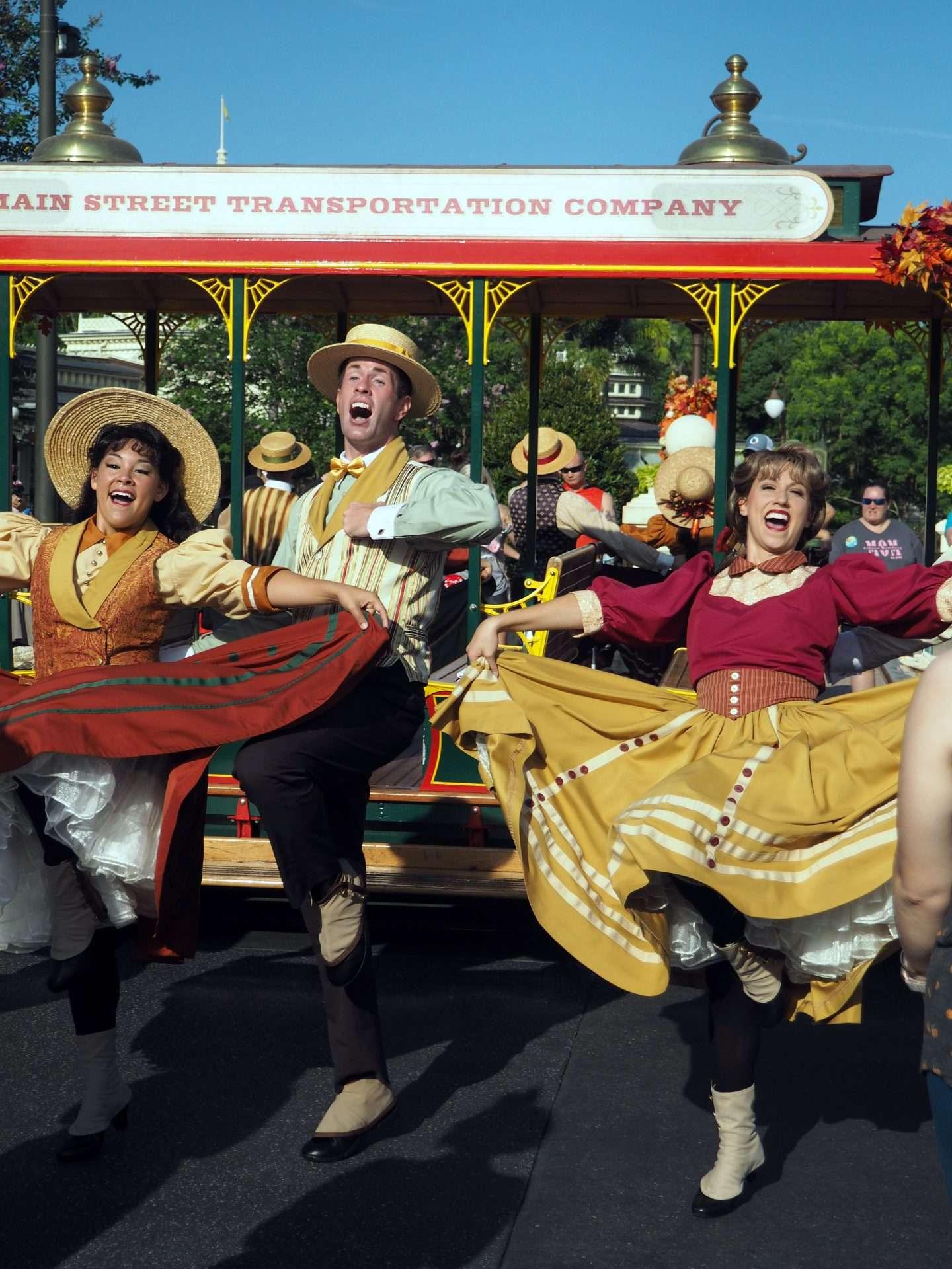 Main Street Trolley Dancers Fall
