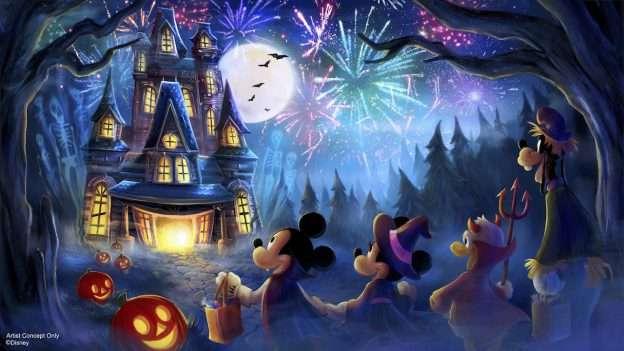 mickeys halloween party fireworks show 2019