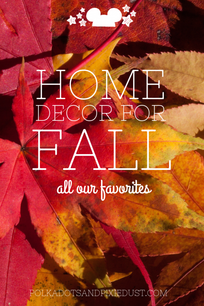 Fall Decorations to spruce up your home for fall! Doormats, wreaths, mugs, pumpkins and more! #disneydecor #falldecor #falldecorations #pumpkindecorations #polkadotpixies