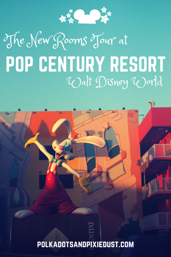 Pop Century Resort at Walt disney World New Rooms and Refurbishment tour from 2018 #popcentury #disneyresorts #disneyworld