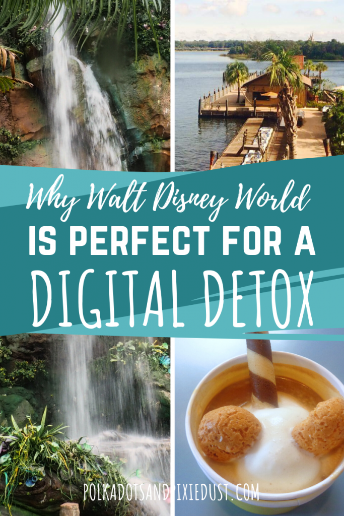 Why Walt Disney World may be just what you need to get away from all the digital in your life. Put down the phone, laptop and everything else. There's ton to see here. Here's all our reasons Walt Disney World is perfect to detox. #digitaldetox #findingbalance #ecotravel #travelunplugged