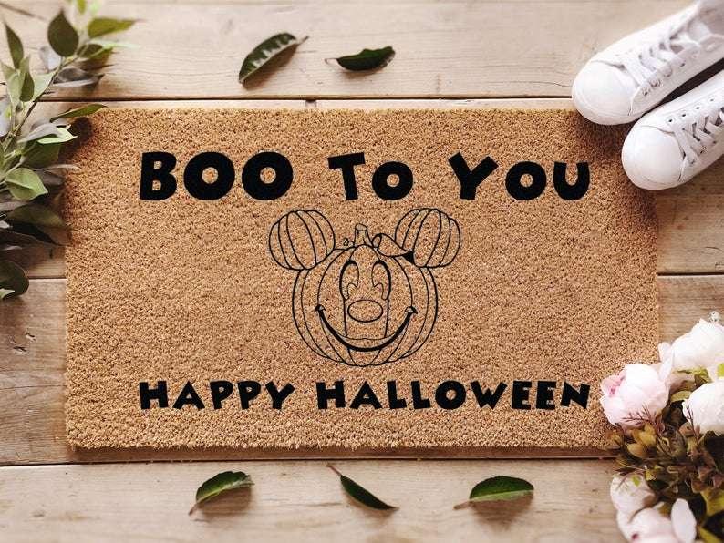 mickey halloween doormat