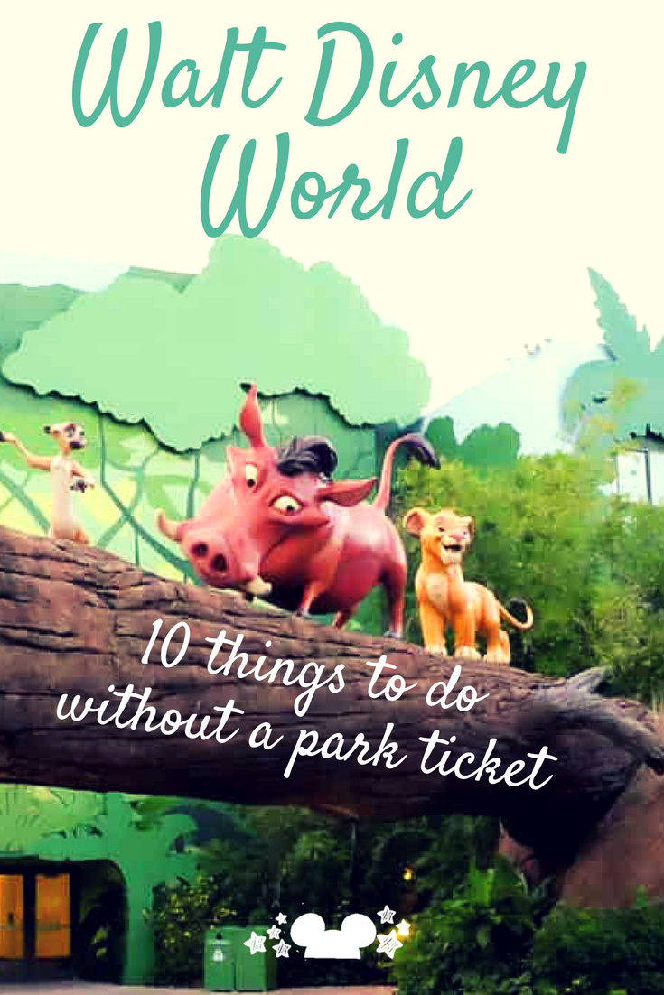 Heading to Walt Disney World and have a free day without a park ticket? Never fear! There is a ton to do that will make you wish you had more free days to hang out at Disney without stepping foot in the parks #disneyparks #disneywithouttickets #waltdisneyworld